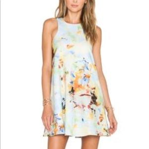 Floral babydoll mini dress